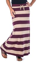 Noble Mount Womens Cool Knit Maxi Skirt - Purple/Lilac