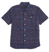 RVCA Boy's Shaded Short Sleeve Woven Shirt