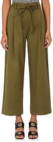 Barneys New York Women's Ribbed Cotton-Blend Wide-Leg Trousers