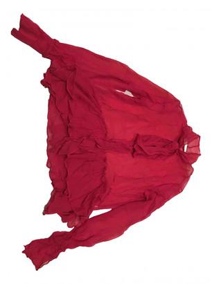 Mary Katrantzou Red Silk Tops