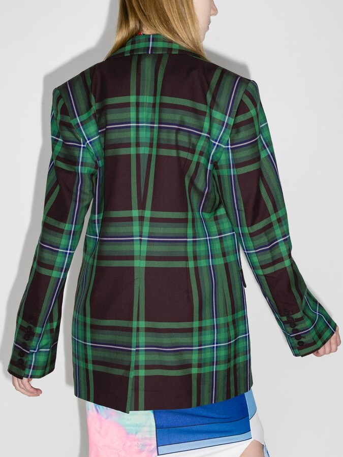 Thumbnail for your product : Charles Jeffrey Loverboy Gold Oversized Checked Blazer
