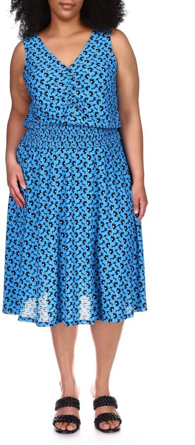 Thumbnail for your product : MICHAEL Michael Kors Smocked Midi Dress