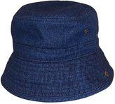 N'Ice Caps Kids Distressed and Washed Denim Cotton Bucket Hat