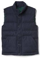Gap ColdControl Max wool blend puffer vest