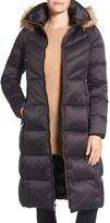 Eliza J Women's Water Resistant Down Jacket With Faux Fur Trim