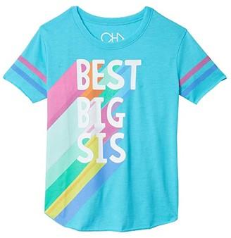 Chaser Vintage Jersey Tee (Little Kids/Big Kids) (Poolside) Girl's T Shirt