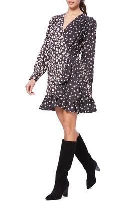 Paige Carrie Ann Floral Long Sleeve Wrap Dress