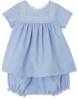 Petit Bateau Baby girls dress and bloomers