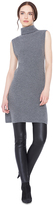 Alice + Olivia Charcoal Fay Sleeveless Side Slit Sweater