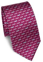 Salvatore Ferragamo Whale Patterned Silk Tie