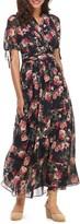 Gal Meets Glam Floral Chiffon Maxi Dress (Petite)
