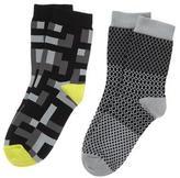 Crazy 8 Checkered Socks 2-Pack