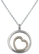 Effy Jewelry 14K White & Rose Gold Diamond Heart Pendant, .17 TCW