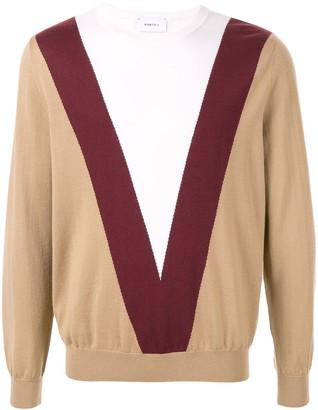 Ports V colour block sweater