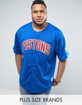 Mitchell & Ness Plus Detroit Pistons Nba Mesh T-Shirt