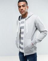 Solid Zip Up Hoodie In Gray