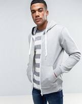 Solid Zip Up Hoodie In Grey