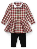 Ralph Lauren Girl Plaid Shirtdress & Legging Set