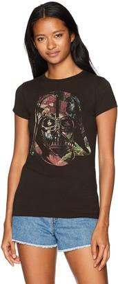 Star Wars Women's Antique Darth Vader Helmet Floral Graphic Crew T-Shirt