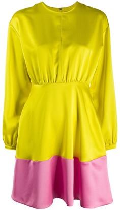 MSGM Colour-Block Flared Dress