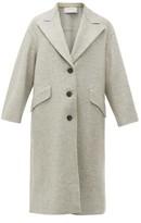 Harris Wharf London Single-breasted Pressed-wool Coat - Womens - Light Grey