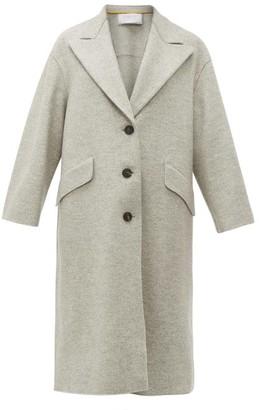 Harris Wharf London Single-breasted Pressed-wool Coat - Light Grey
