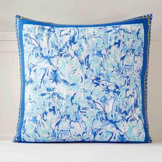 Pottery Barn Teen Lilly Pulitzer Elephant Appeal Sham, Euro, Ikat Blue