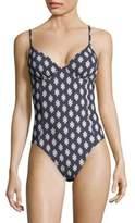 Tory Burch One-Piece Underwire Swimsuit