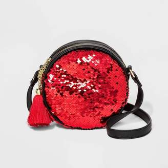 Mad Love Reverse Sequin Crossbody Bag - Red/Green