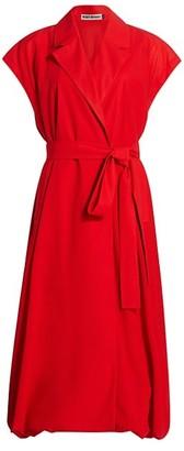 Issey Miyake Layered Wool Wrap Dress