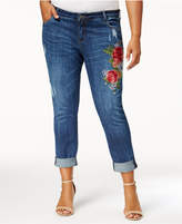 KUT from the Kloth Catherine Plus Size Embroidered Boyfriend Jeans