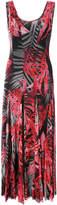 Fuzzi palm print midi dress