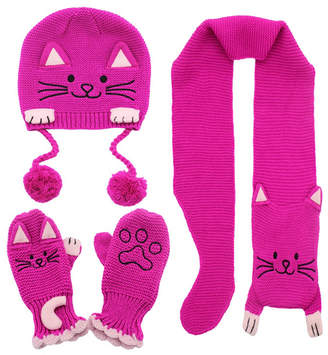 Kidorable Little and Big Girl Lucky Cat Knitwear Set