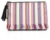 Loeffler Randall Soft Striped Tassel Pouch