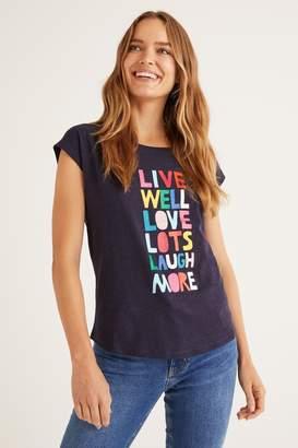 Boden Womens Blue Robyn Jersey T-Shirt - Blue