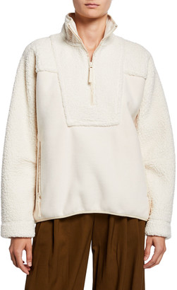 Vince Textured Block Half-Zip Jacket