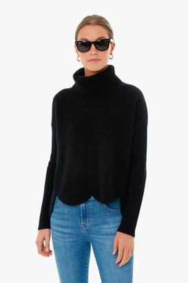 Chloe Kristyn Black Anna Scallop Hem Sweater