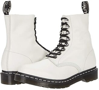 Dr. Martens 1460 Pascal Hardware (Bone Virginia) Women's Lace-up Boots