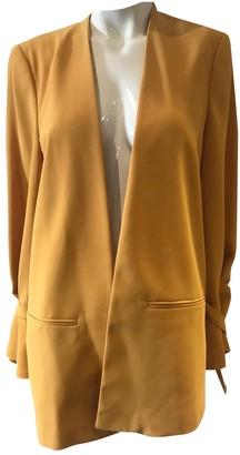 MANGO \N Yellow Cotton Jacket for Women