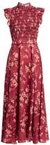 Sea Monet Smocked Floral Maxi Dress