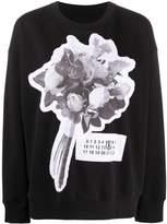 MM6 MAISON MARGIELA floral bouquet patch sweatshirt