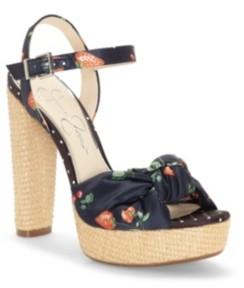 Jessica Simpson Ivrey Knot Platform Sandals Women's Shoes