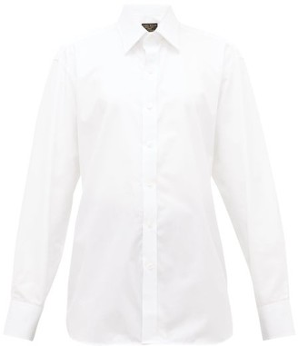 Emma Willis Supraluxe Swiss-dot Cotton-poplin Shirt - White