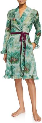 La Costa Del Algodon Eugenie Floral-Print Short Robe
