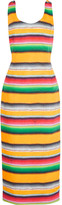 Stella Jean Striped cotton-crepe midi dress