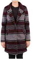 Scotch & Soda Women's Burgundy/grey Polyester Coat.