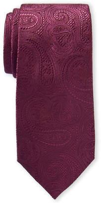 Michael Kors Bordeaux Paisley Silk Tie