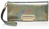 Zac Posen Earthette Abalone Metallic Leather Wristlet
