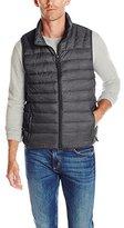 Hawke & Co Men's Heathered Lightweight Packable Puffer Vest