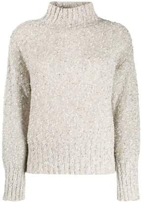Snobby Sheep mottled sequin knit jumper
